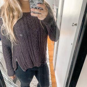 American Eagle Dark Purple Zip Sweater NWT
